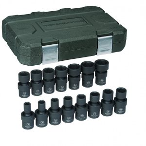 15pc Impact wrench socket set